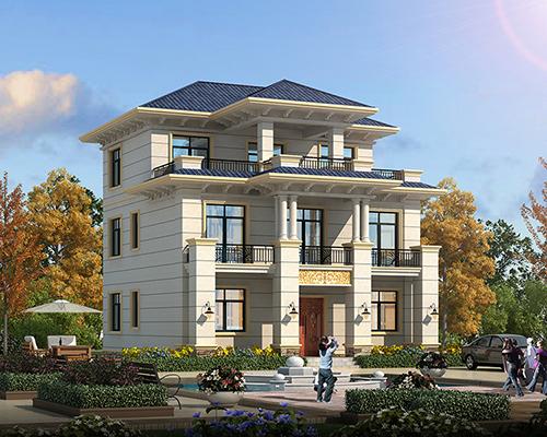 雷州市130平米简洁大方层次感强三层小别墅别墅私人定制设计案例