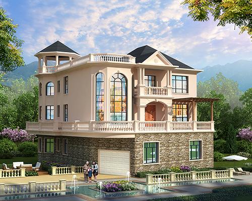 带架空层/空中庭院及围廊/屋顶露台豪华欧式赣州市别墅定制案例