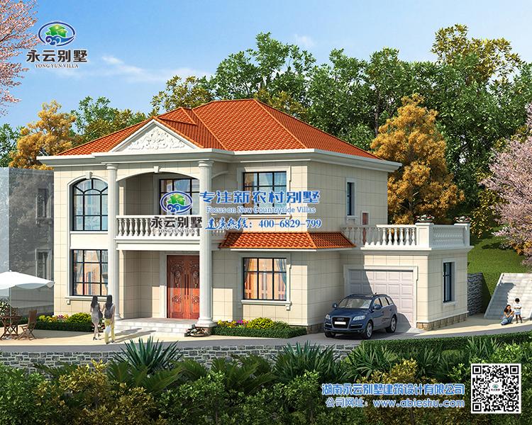 【实地设计】长沙市150平米简约大方两层(6室3厅)农村别墅别墅定制设计