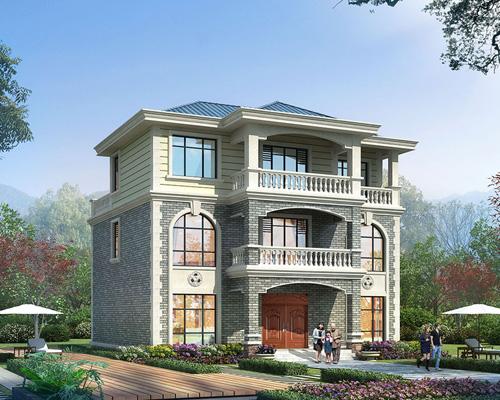 开间12.6米x进深12.8米农村经济实用自建房设计案例