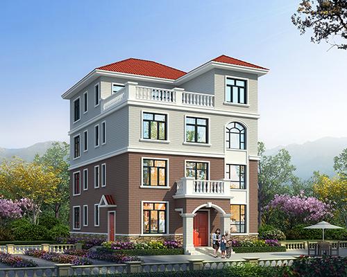 四层经济实用带小电梯农村自建房屋定制设计案例